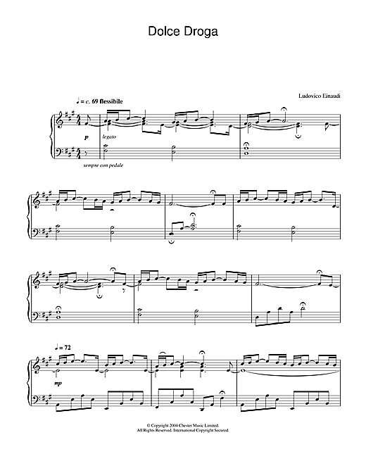 Ludovico Einaudi Dolce Droga sheet music notes and chords. Download Printable PDF.