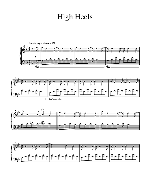 Ludovico Einaudi High Heels sheet music notes and chords