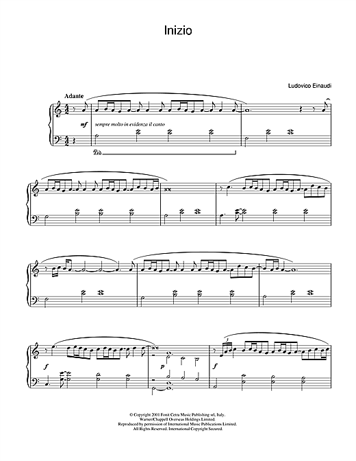 Ludovico Einaudi Inizio sheet music notes and chords. Download Printable PDF.