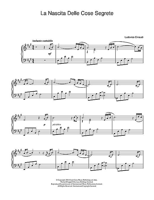Ludovico Einaudi La Nascita Delle Cose Segrete sheet music notes and chords. Download Printable PDF.