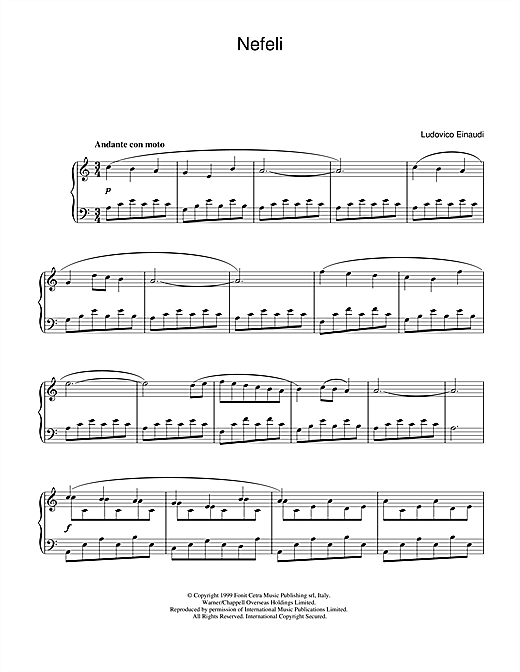 Ludovico Einaudi Nefeli sheet music notes and chords. Download Printable PDF.