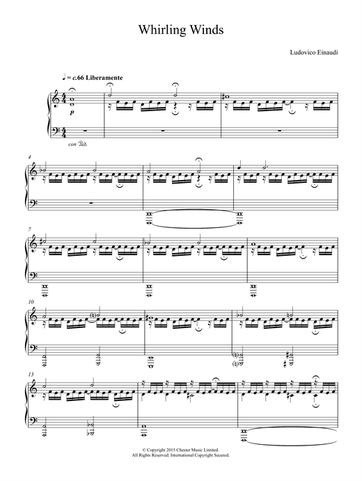 Ludovico Einaudi Whirling Winds sheet music notes and chords