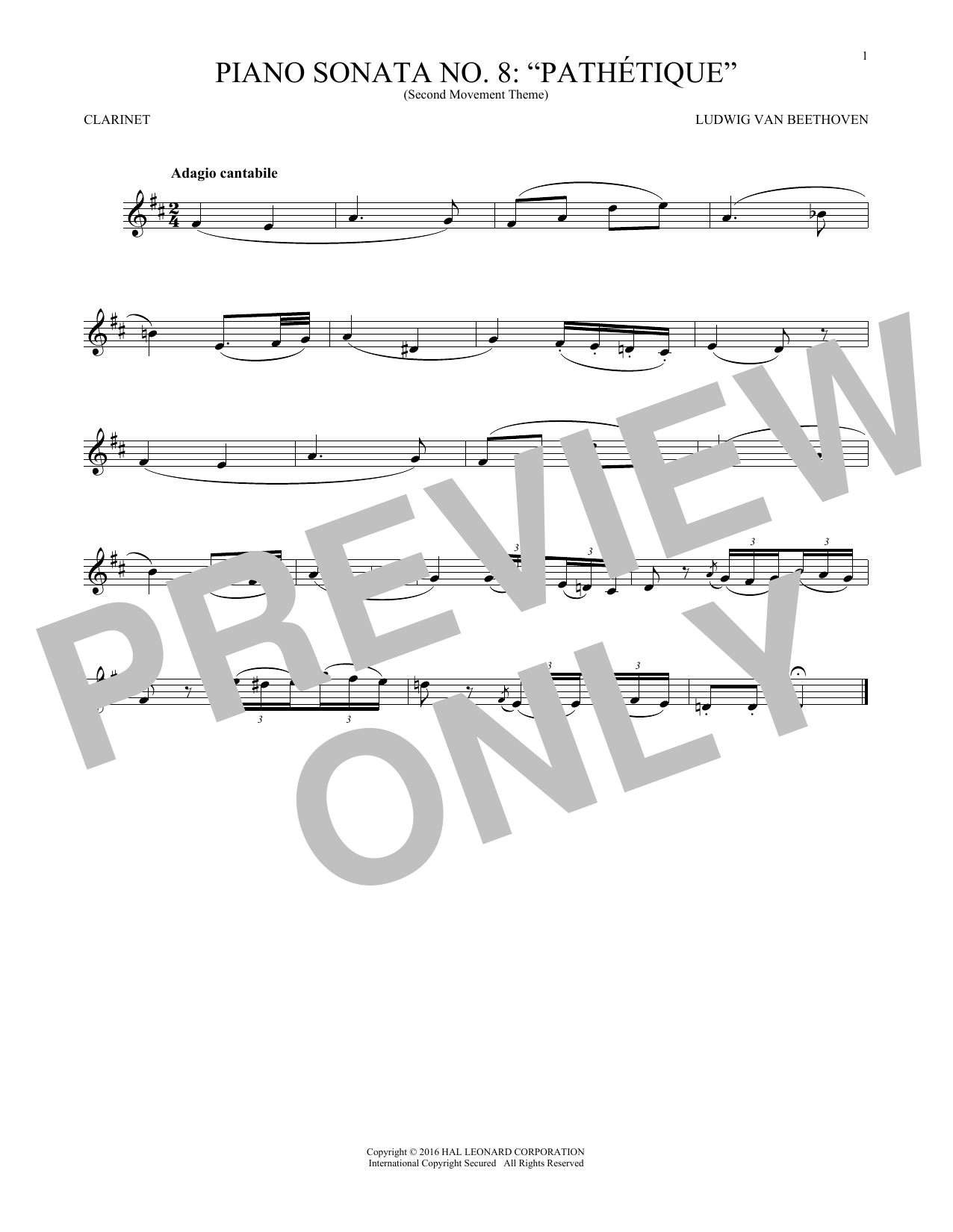 Ludwig van Beethoven Adagio Cantabile, Op. 13 sheet music notes and chords. Download Printable PDF.