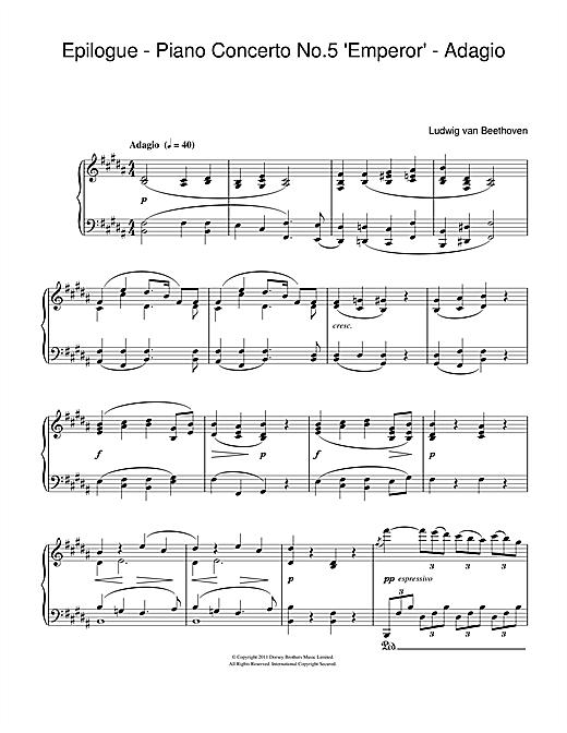 Ludwig van Beethoven Epilogue (Piano Concerto No.5
