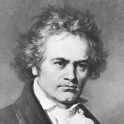 Download or print Ludwig van Beethoven Symphony No. 7 In A Major, Second Movement (Allegretto) Sheet Music Printable PDF 1-page score for Classical / arranged Big Note Piano SKU: 446611.