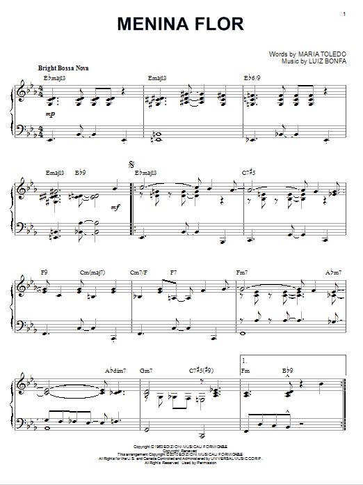 Luiz Bonfa Menina Flor [Jazz version] (arr. Brent Edstrom) sheet music notes and chords. Download Printable PDF.