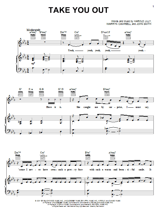 Luther Vandross Take You Out sheet music notes and chords. Download Printable PDF.