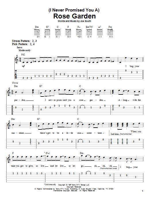Lynn Anderson Rose Garden Sheet Music Pdf Notes Chords Country Score Guitar Chords Lyrics Download Printable Sku 107442