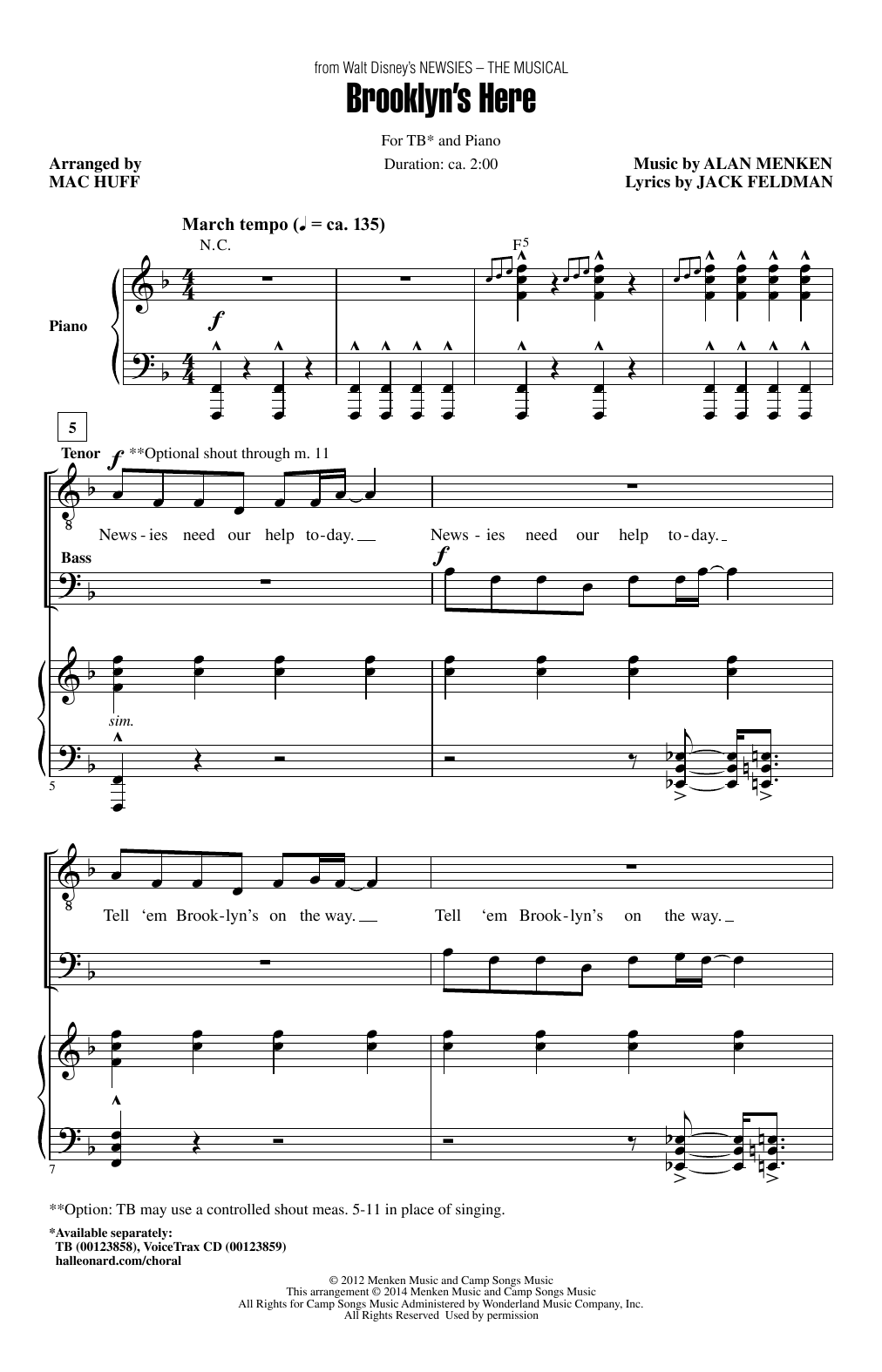 Mac Huff Brooklyn's Here sheet music notes and chords. Download Printable PDF.