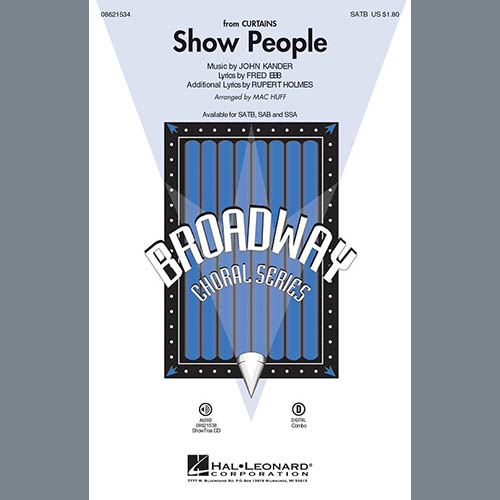 Easily Download Kander & Ebb Printable PDF piano music notes, guitar tabs for SATB Choir. Transpose or transcribe this score in no time - Learn how to play song progression.