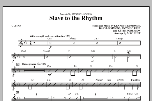 Mac Huff Slave To The Rhythm - Guitar sheet music notes and chords. Download Printable PDF.