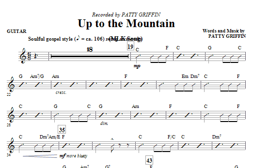 Mac Huff Up To The Mountain (MLK Song) - Guitar sheet music notes and chords. Download Printable PDF.