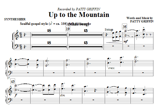 Mac Huff Up To The Mountain (MLK Song) - Synthesizer sheet music notes and chords. Download Printable PDF.