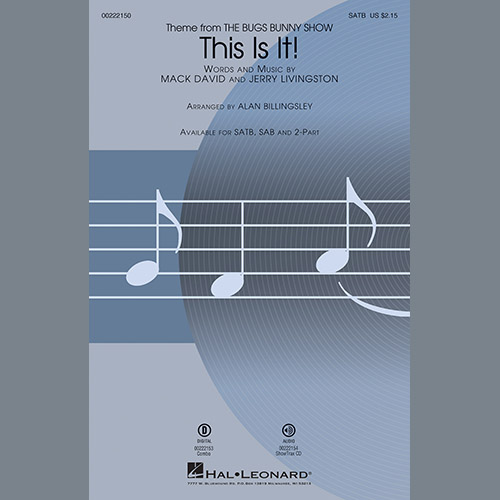 Easily Download Mack David & Jerry Livingston Printable PDF piano music notes, guitar tabs for Choir Instrumental Pak. Transpose or transcribe this score in no time - Learn how to play song progression.