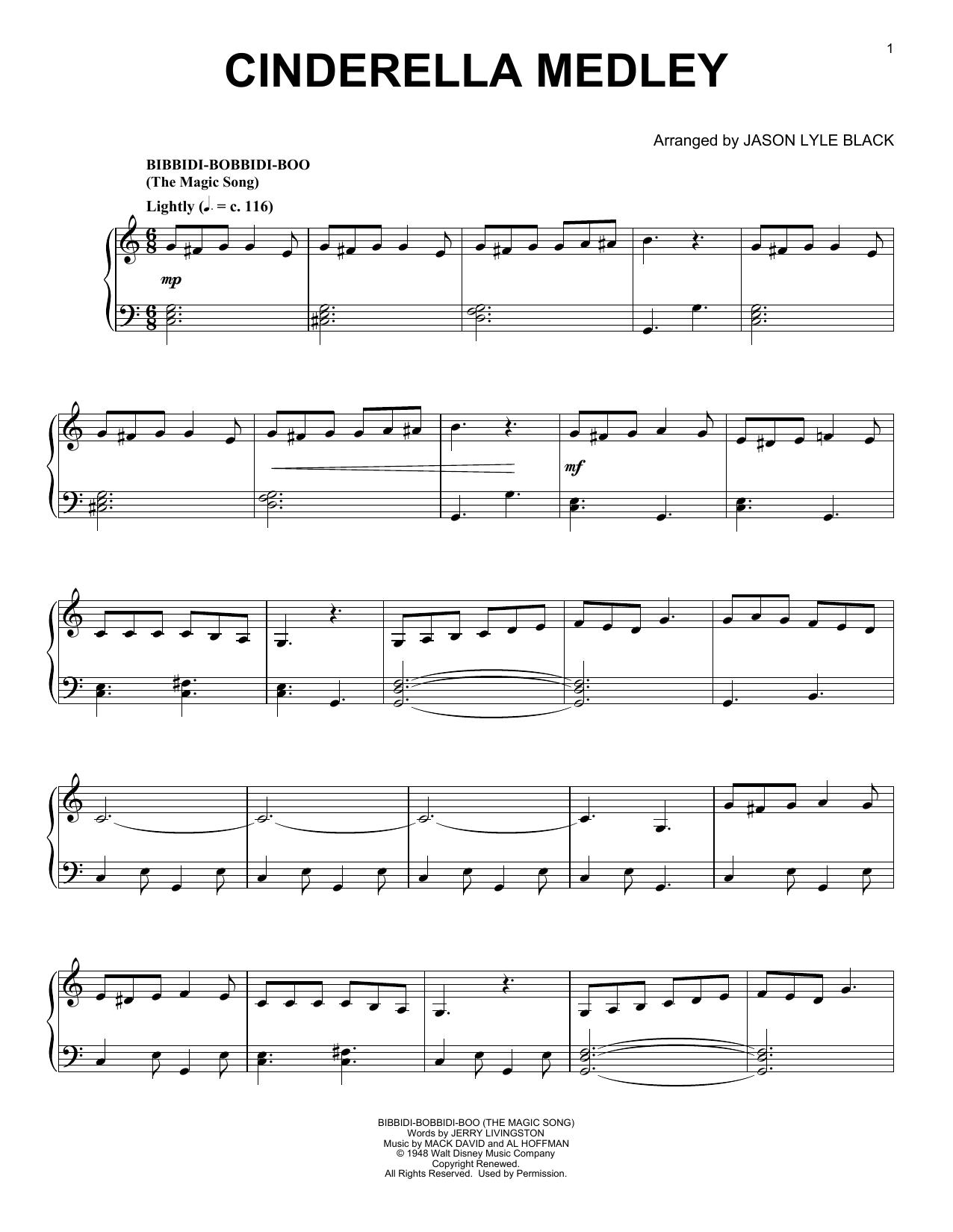 Mack David, Al Hoffman and Jerry Livingston Cinderella Medley (arr. Jason Lyle Black) sheet music notes and chords. Download Printable PDF.