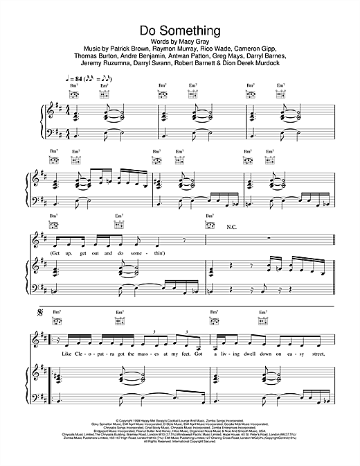 Macy Gray Do Something sheet music notes and chords