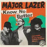 Download Major Lazer 'Know No Better (feat. Travis Scott, Camila Cabello & Quavo)' Printable PDF 9-page score for Pop / arranged Piano, Vocal & Guitar SKU: 124520.