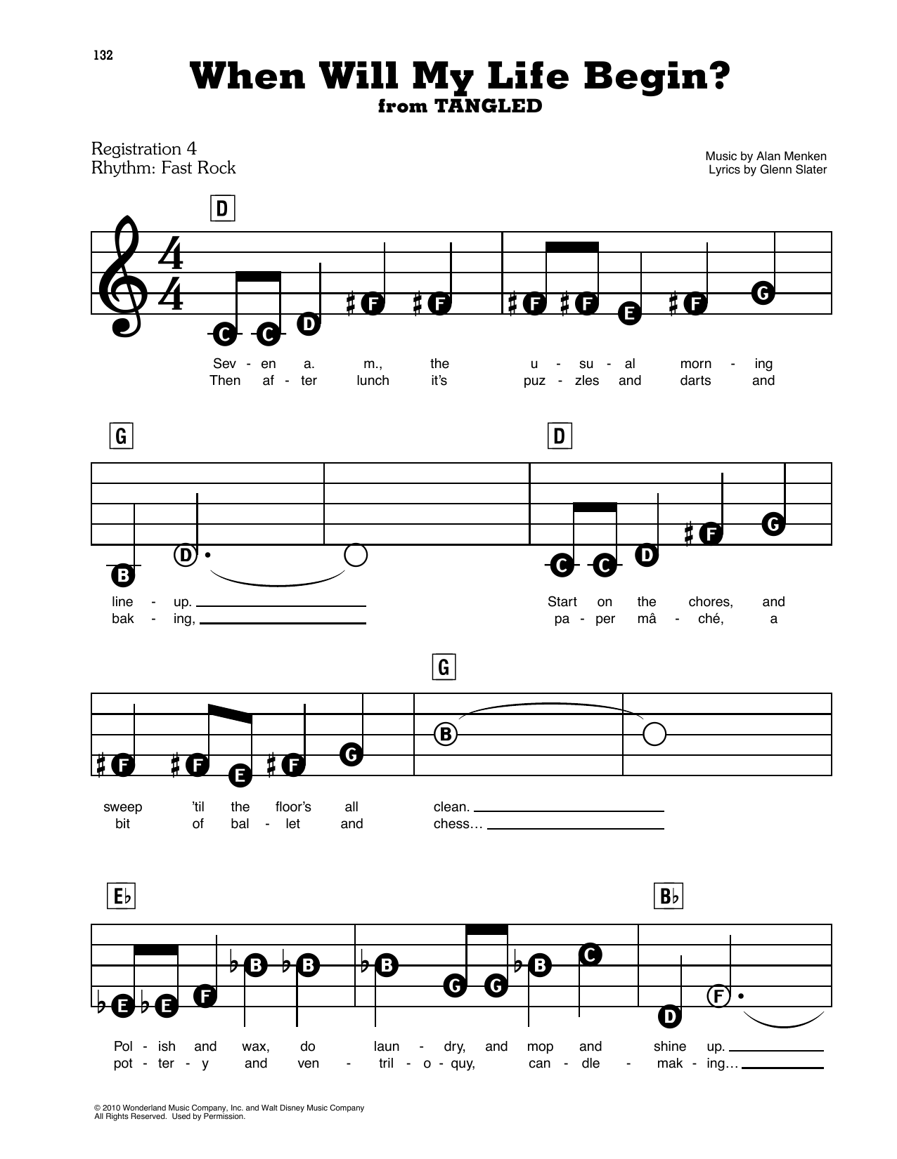 Mandy Moore When Will My Life Begin? (from Disney's Tangled) sheet music notes and chords. Download Printable PDF.