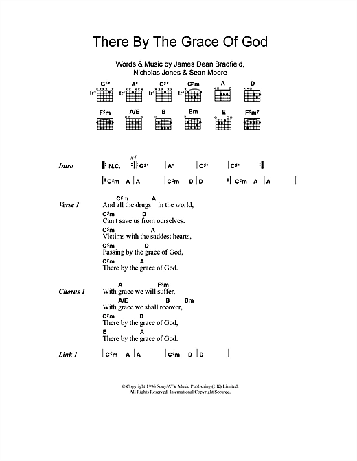Manic Street Preachers There By The Grace Of God sheet music notes and chords. Download Printable PDF.