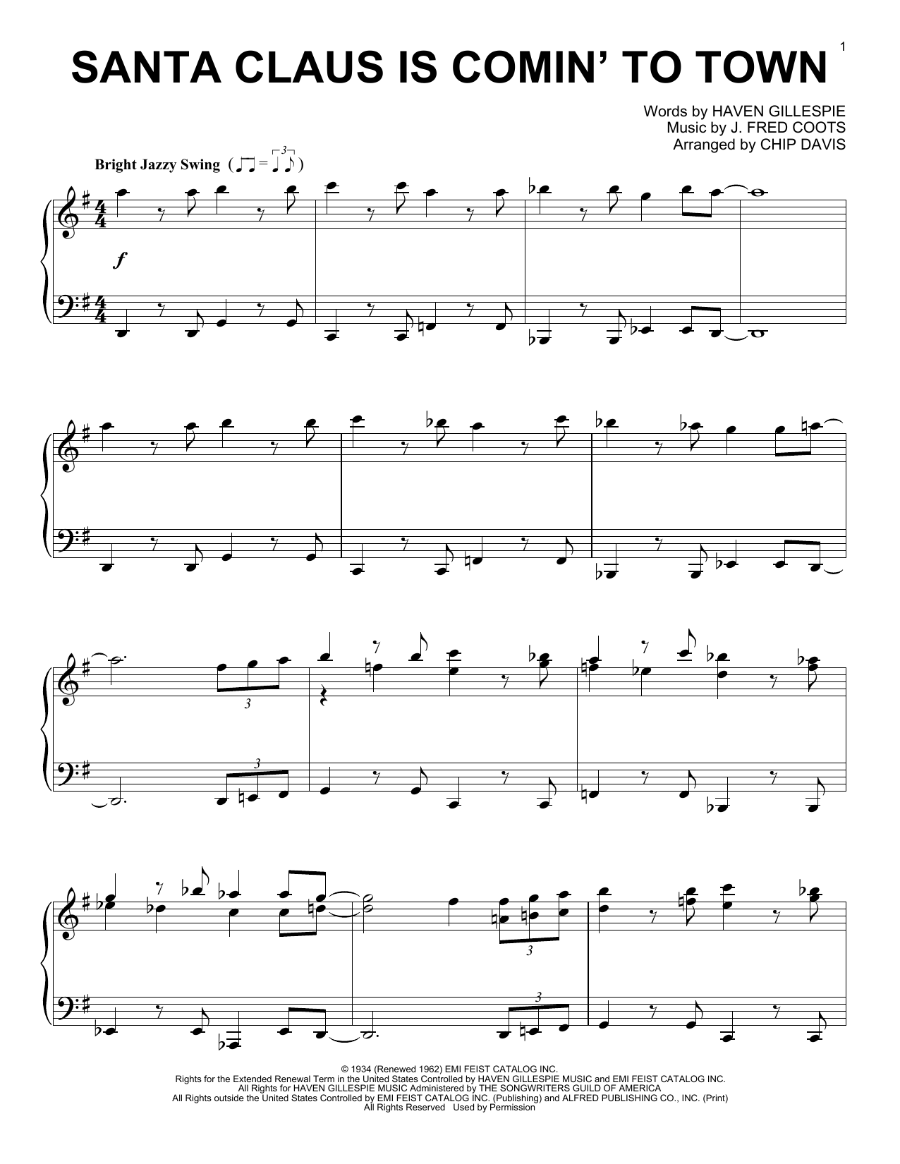 Mannheim Steamroller Santa Claus Is Comin' To Town sheet music notes and chords. Download Printable PDF.