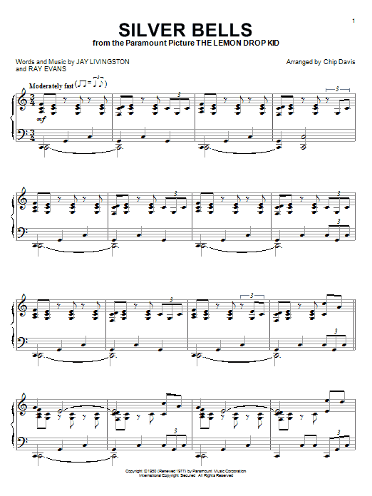 Mannheim Steamroller Silver Bells sheet music notes and chords. Download Printable PDF.