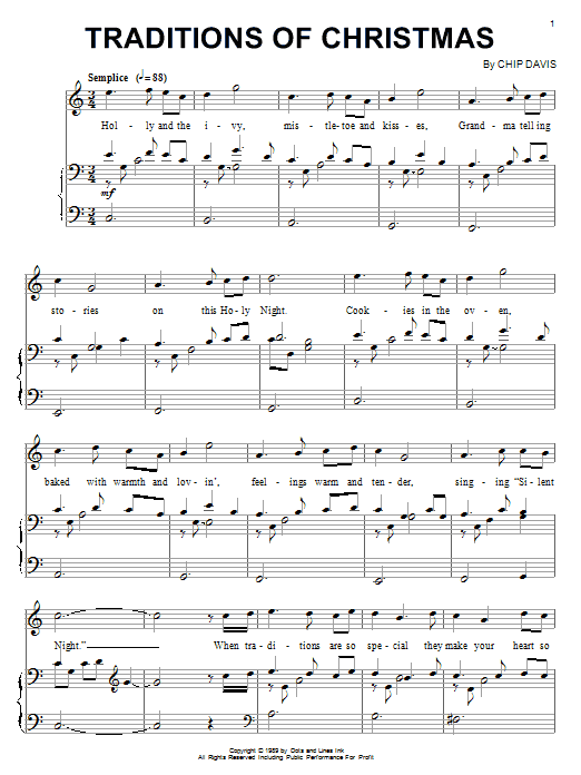 Mannheim Steamroller Traditions Of Christmas sheet music notes and chords