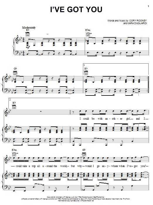 Marc Anthony I've Got You sheet music notes and chords. Download Printable PDF.
