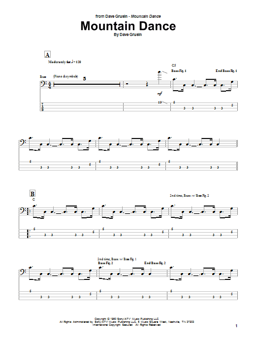 Marcus Miller Mountain Dance sheet music notes and chords. Download Printable PDF.