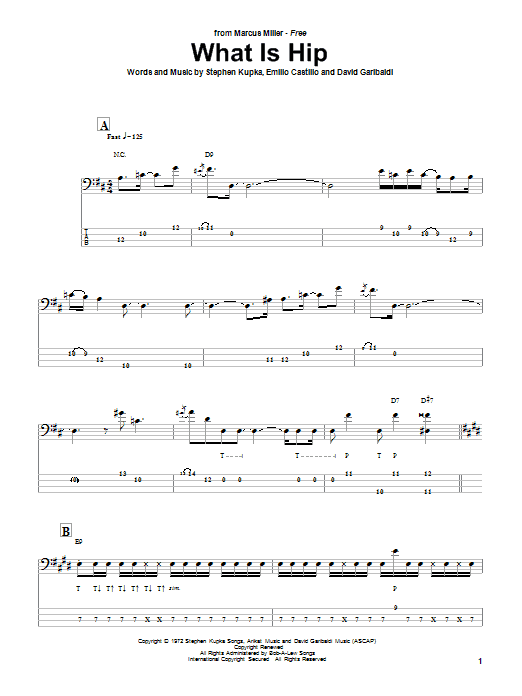 Marcus Miller What Is Hip sheet music notes and chords. Download Printable PDF.