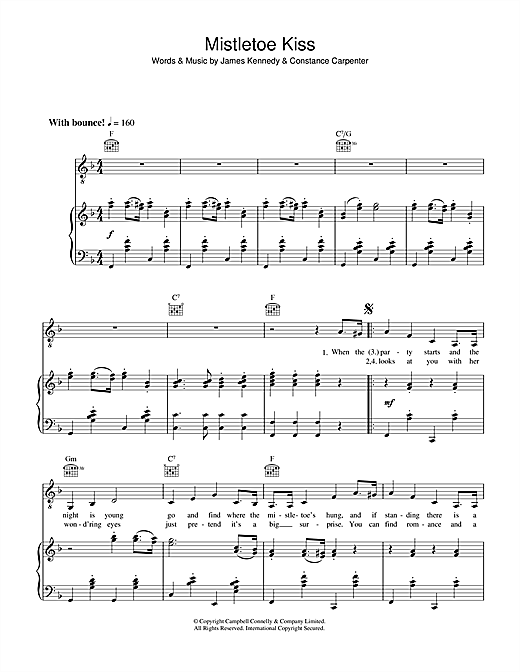 Margaret Whiting Mistletoe Kiss sheet music notes and chords. Download Printable PDF.