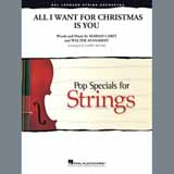 Download or print Mariah Carey All I Want for Christmas Is You (arr. Larry Moore) - Violin 1 Sheet Music Printable PDF 2-page score for Christmas / arranged Orchestra SKU: 409833.