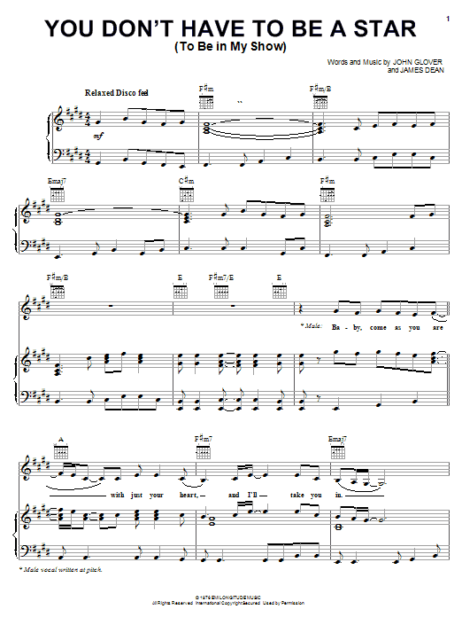 Marilyn McCoo & Billy Davis, Jr. You Don't Have To Be A Star (To Be In My Show) sheet music notes and chords