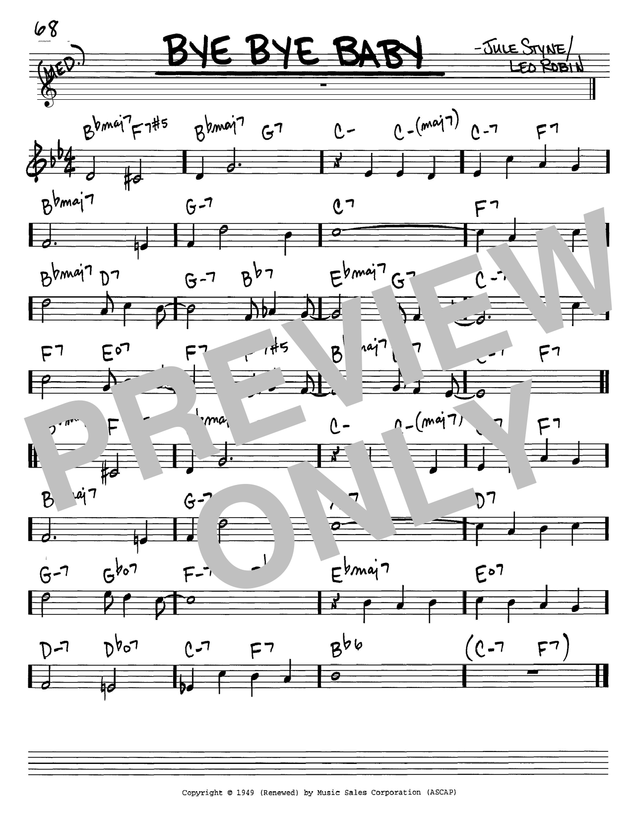 Frank Sinatra Bye Bye Baby sheet music notes and chords. Download Printable PDF.