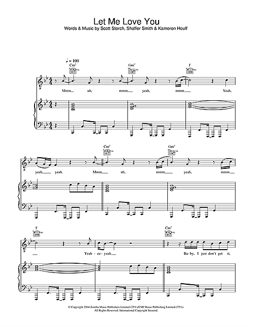 Mario Let Me Love You sheet music notes and chords. Download Printable PDF.