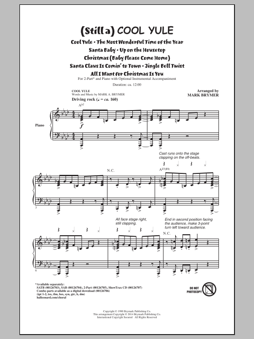 Mark Brymer (Still a) Cool Yule (Medley) sheet music notes and chords. Download Printable PDF.