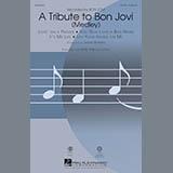 Download or print Mark Brymer A Tribute To Bon Jovi (Medley) Sheet Music Printable PDF 19-page score for Oldies / arranged SAB Choir SKU: 83859.