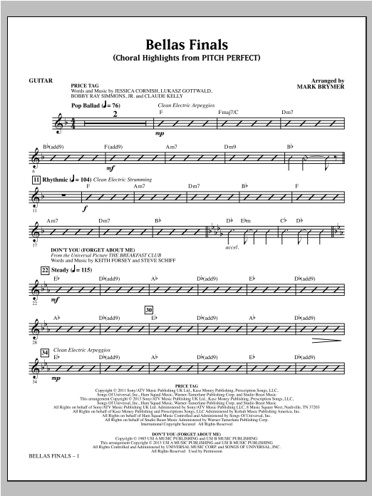 Mark Brymer Bellas Finals - Guitar sheet music notes and chords. Download Printable PDF.