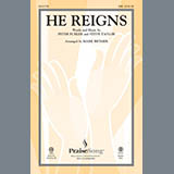 Download or print Newsboys He Reigns (arr. Mark Brymer) Sheet Music Printable PDF 8-page score for Gospel / arranged SAB Choir SKU: 150470.