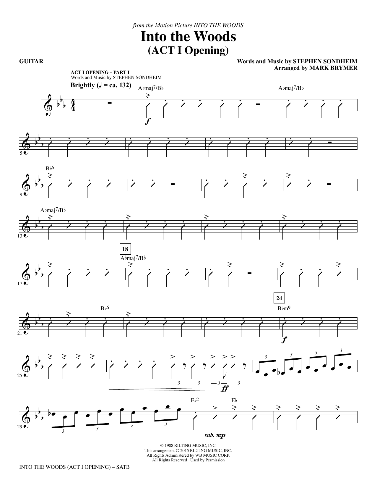 Mark Brymer Into the Woods - Guitar sheet music notes and chords. Download Printable PDF.