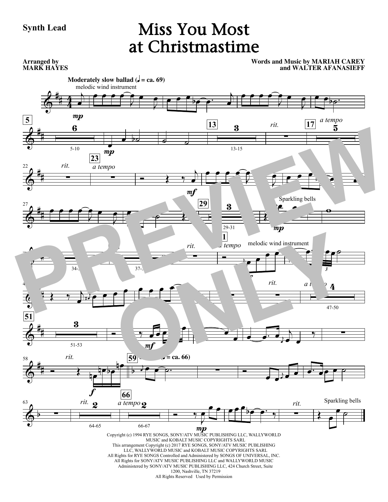 Mark Hayes Miss You Most At Christmas Time - Synthesizer sheet music notes and chords. Download Printable PDF.