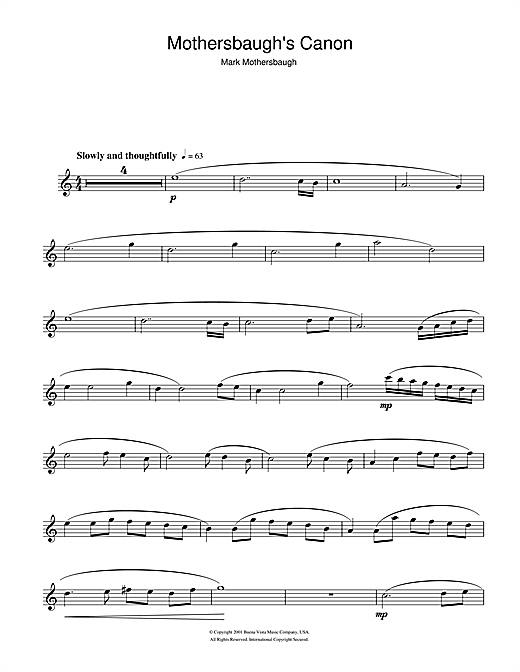 Mark Mothersbaugh Mothersbaugh's Canon (from The Royal Tenenbaums) sheet music notes and chords. Download Printable PDF.