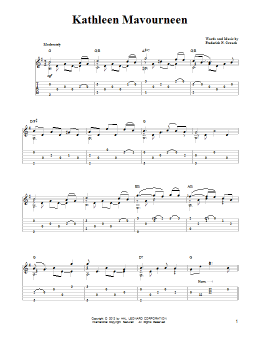 Frederick N. Crouch Kathleen Mavoureen sheet music notes and chords. Download Printable PDF.