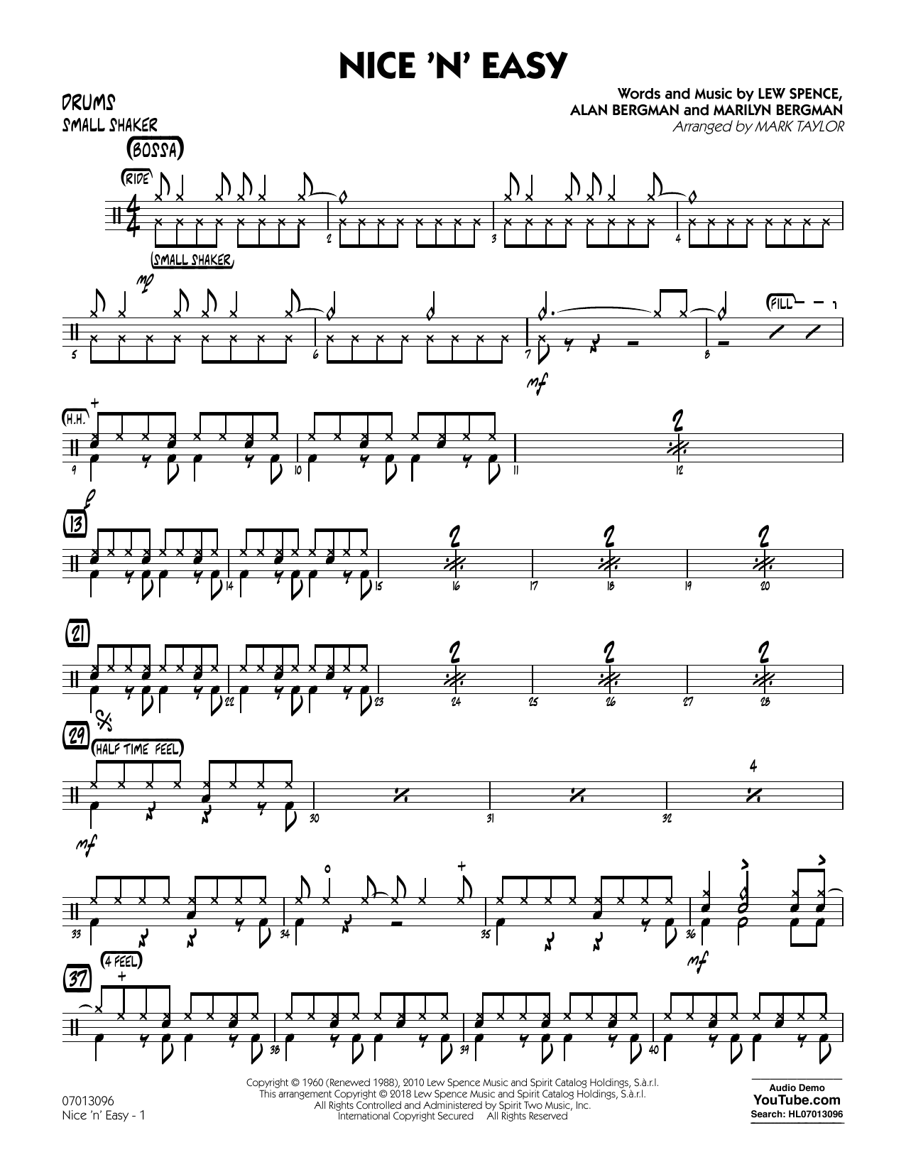 Mark Taylor Nice 'n' Easy - Drums sheet music notes and chords. Download Printable PDF.