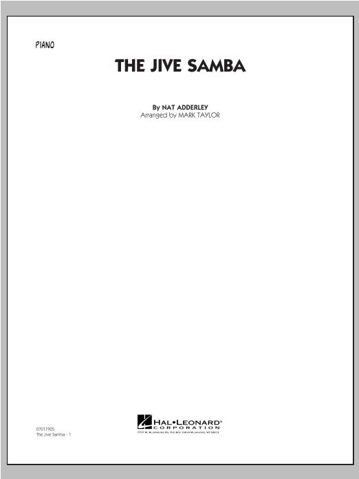 Mark Taylor The Jive Samba - Piano sheet music notes and chords. Download Printable PDF.