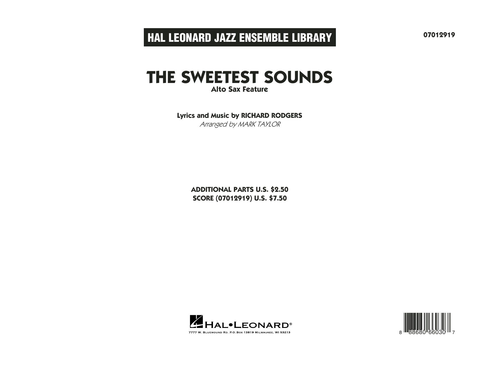 Mark Taylor The Sweetest Sounds (Alto Sax Feature) - Conductor Score (Full Score) sheet music notes and chords. Download Printable PDF.