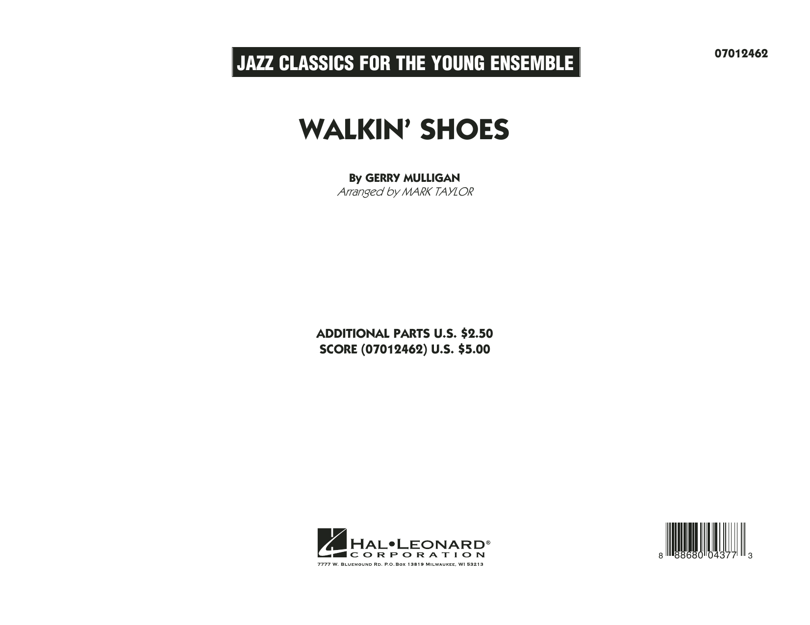 Mark Taylor Walkin' Shoes - Conductor Score (Full Score) sheet music notes and chords. Download Printable PDF.