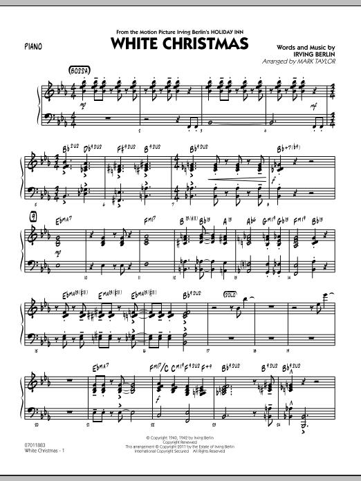 Mark Taylor White Christmas Piano Sheet Music Pdf Notes Chords Christmas Score Jazz Ensemble Download Printable Sku 300743
