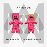 Download or print Marshmello & Anne-Marie FRIENDS Sheet Music Printable PDF 4-page score for Pop / arranged Big Note Piano SKU: 418088.