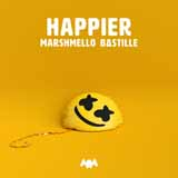 Download or print Marshmello & Bastille Happier Sheet Music Printable PDF 5-page score for Pop / arranged Big Note Piano SKU: 410025.