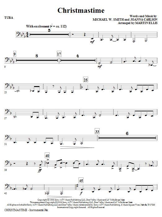 Martin Ellis Christmastime - Tuba sheet music notes and chords. Download Printable PDF.
